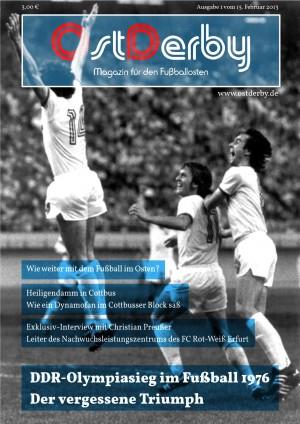 OstDerby Magazin Cover Heft 1 2013